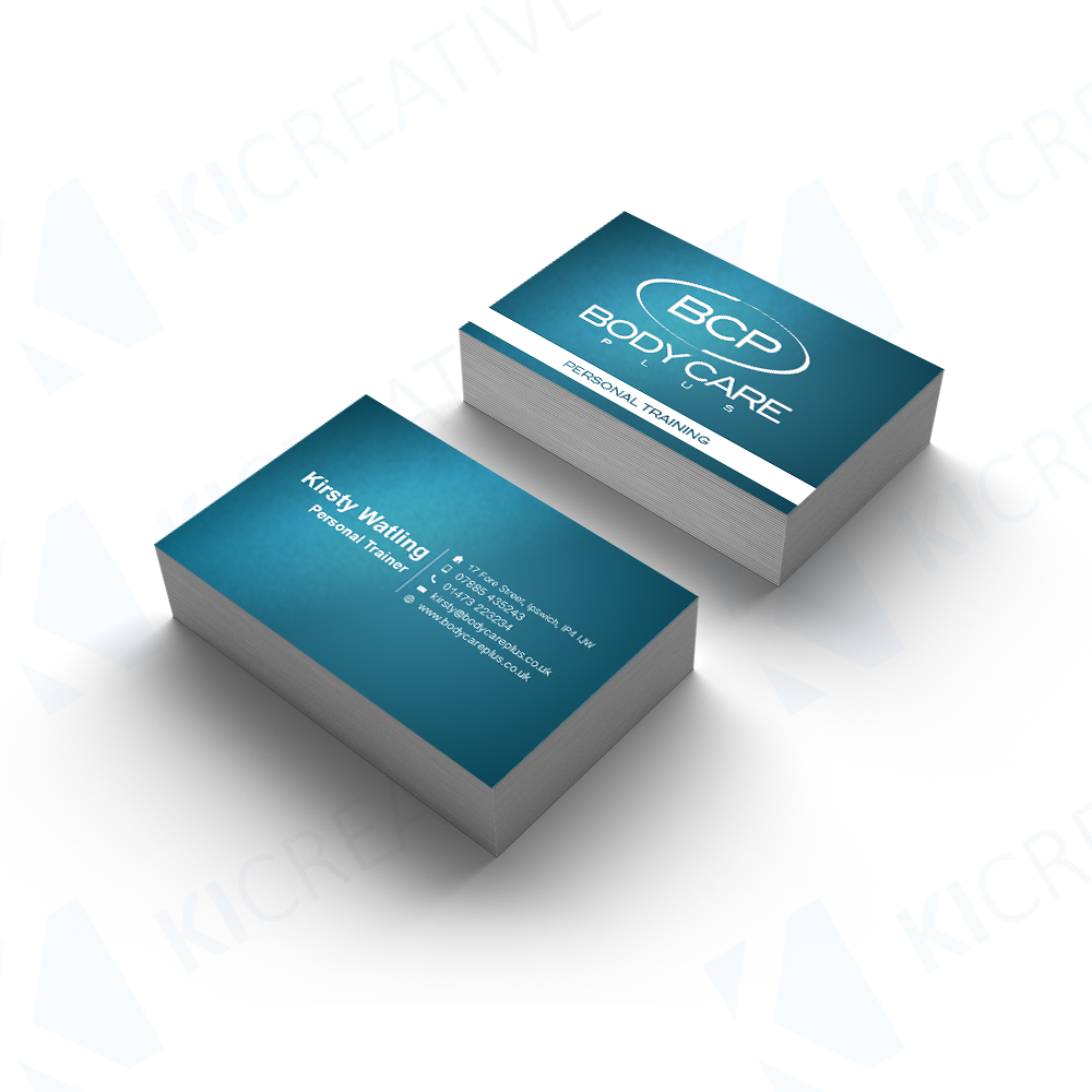 Body Care Plus Personal Training Business Card Mockup